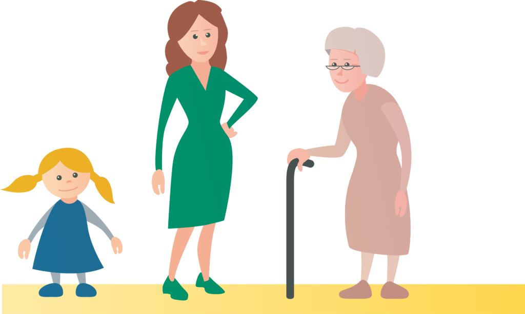 Illustration drei Generationen